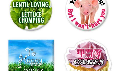 To Happy Vegans badges