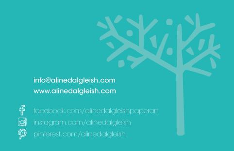 Aline Dalgleish – business card