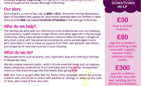 Bromley Brighter Beginnings – flyer